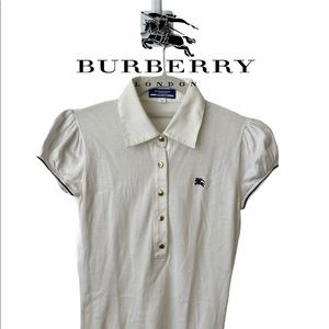 Trendy Cute Knitted Burberry Top Blouse with Lace
